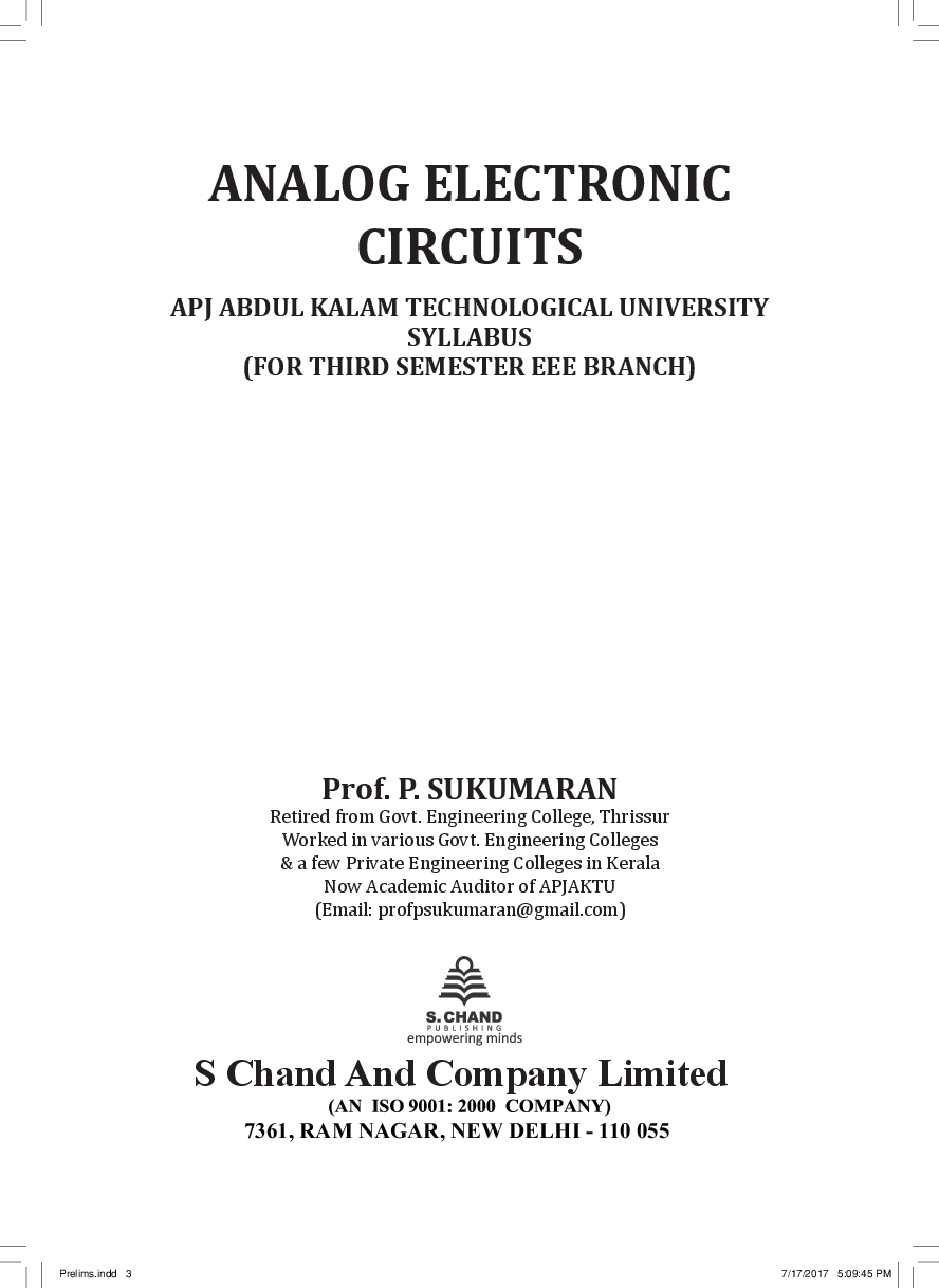 Download Analog Electronic Circuits For 3rd Semester Of Apjktu Integrated Free Pdf Bookstore Snapshot About The Ebook Experience In Web Reader