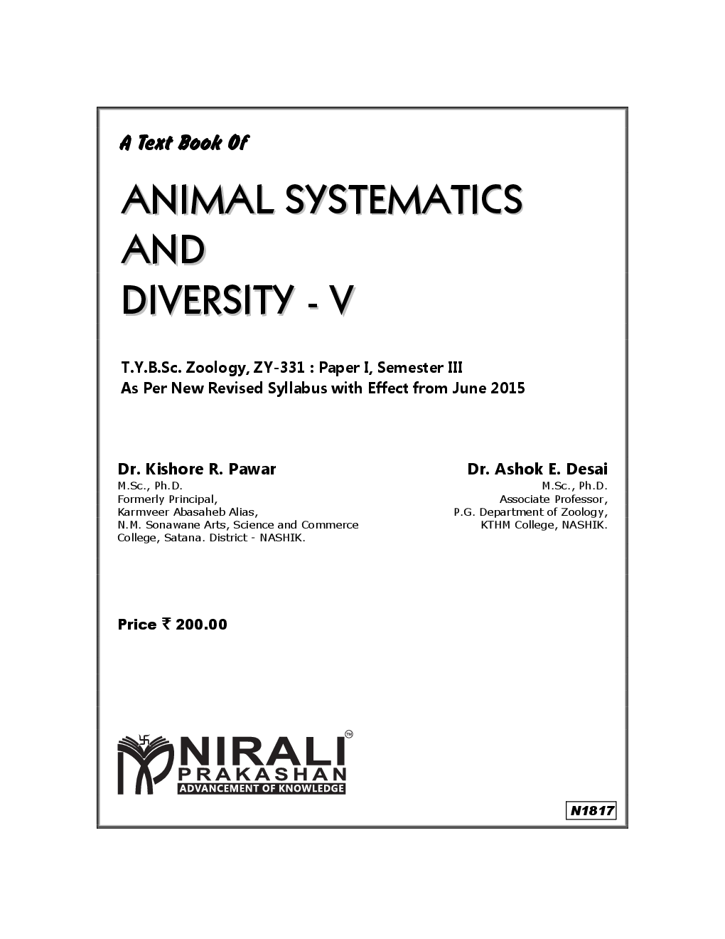 Animal Systematics And Diversity - V - Page 2