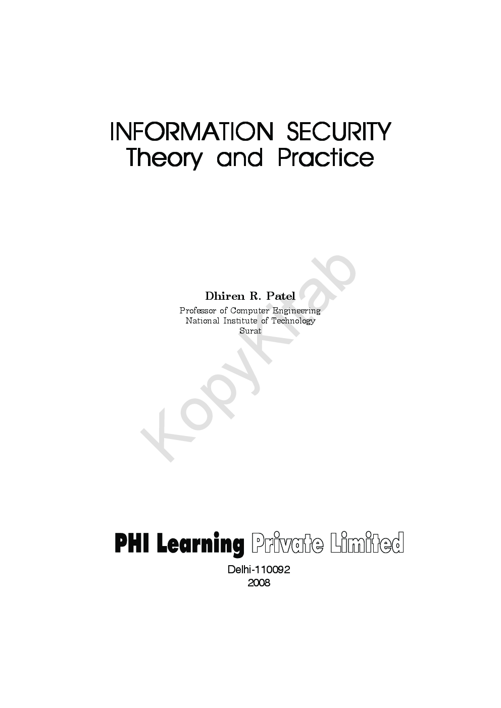 Information Security-Theory And Practice - Page 2