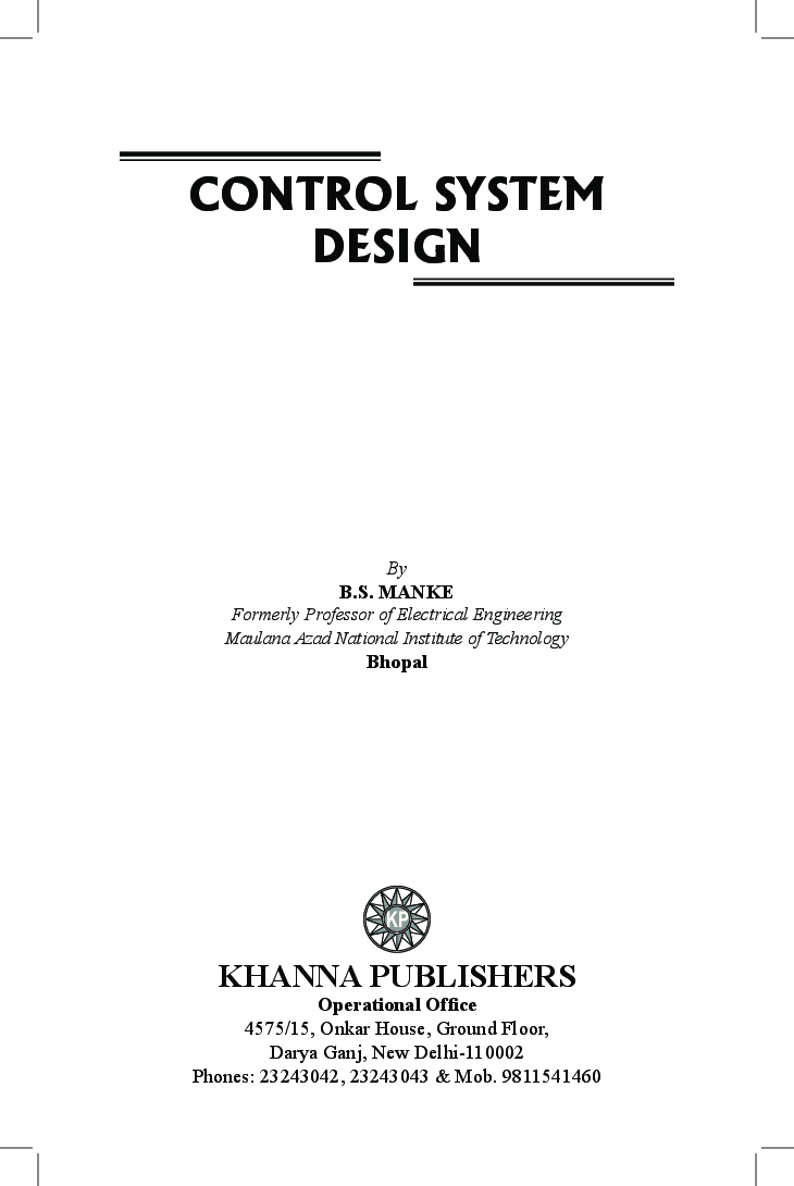 Control System Design - Page 3