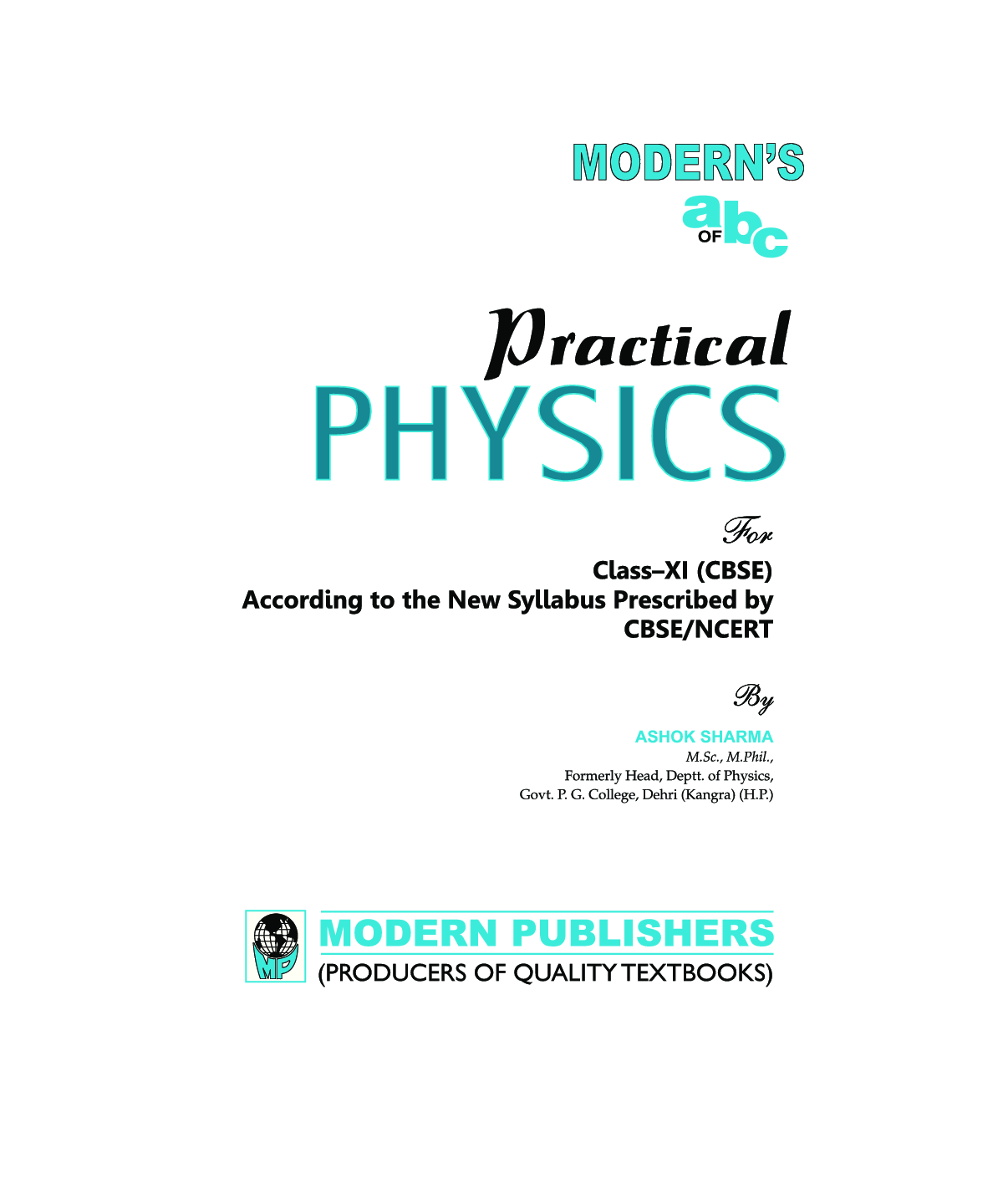 Download Modern's abc Plus Of Physics For class XI Part-1