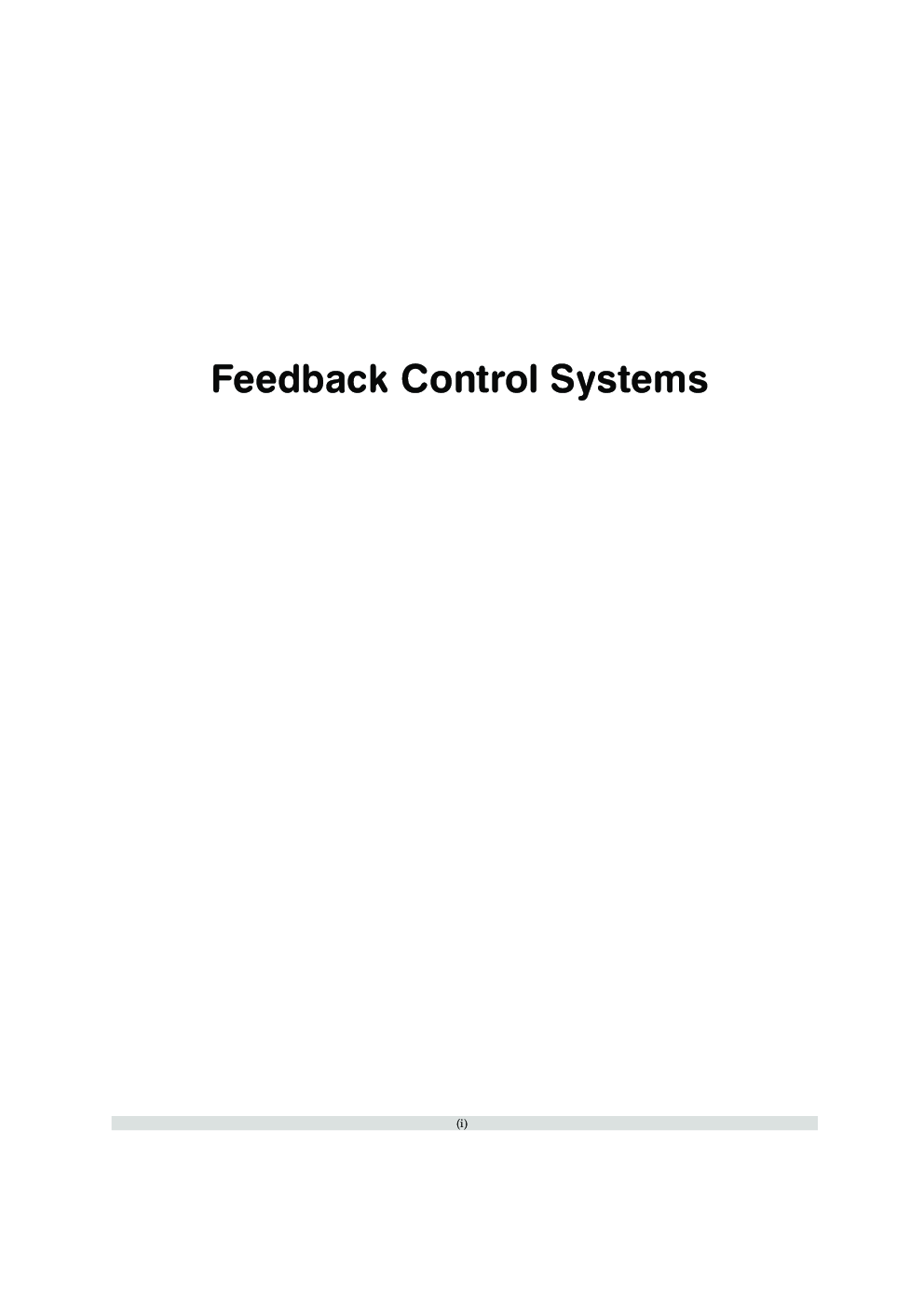 Feedback Control Systems (A Conceptual Approach) - Page 2