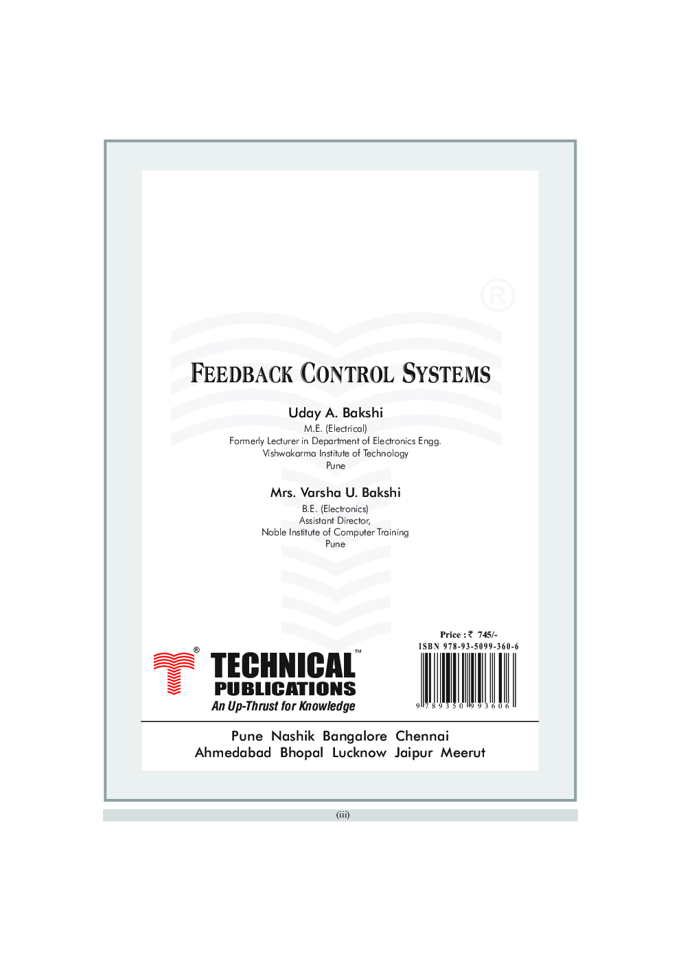 Feedback Control Systems (A Conceptual Approach) - Page 4