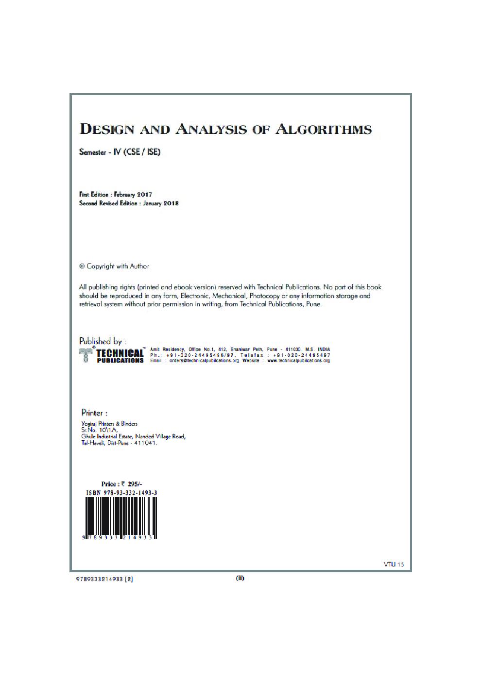 Design And Analysis Of Algorithms For VTU Course 17 CBCS (IV- CSE - 17CS43) - Page 3
