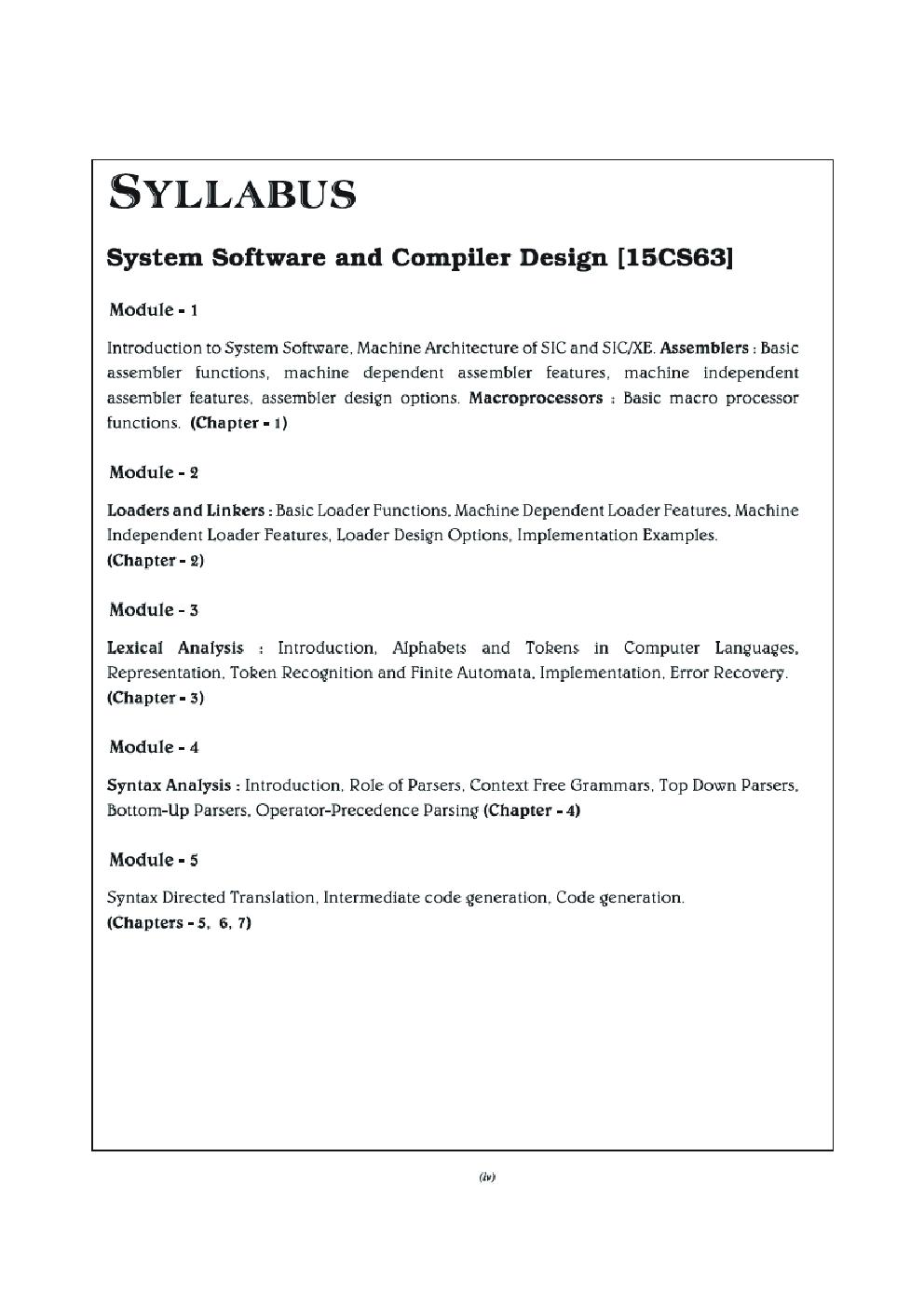 Download System Software Compiler Design For Vtu Course 15 Cbcs Vi Cse 15cs63 By A A Puntambekar I A Dhotre Pdf Online
