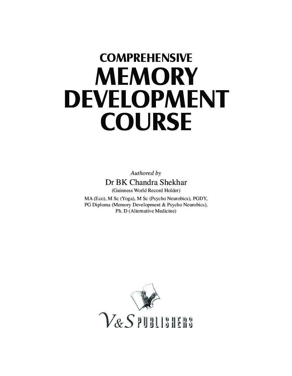 Comprehensive Memory Development Course - Page 2