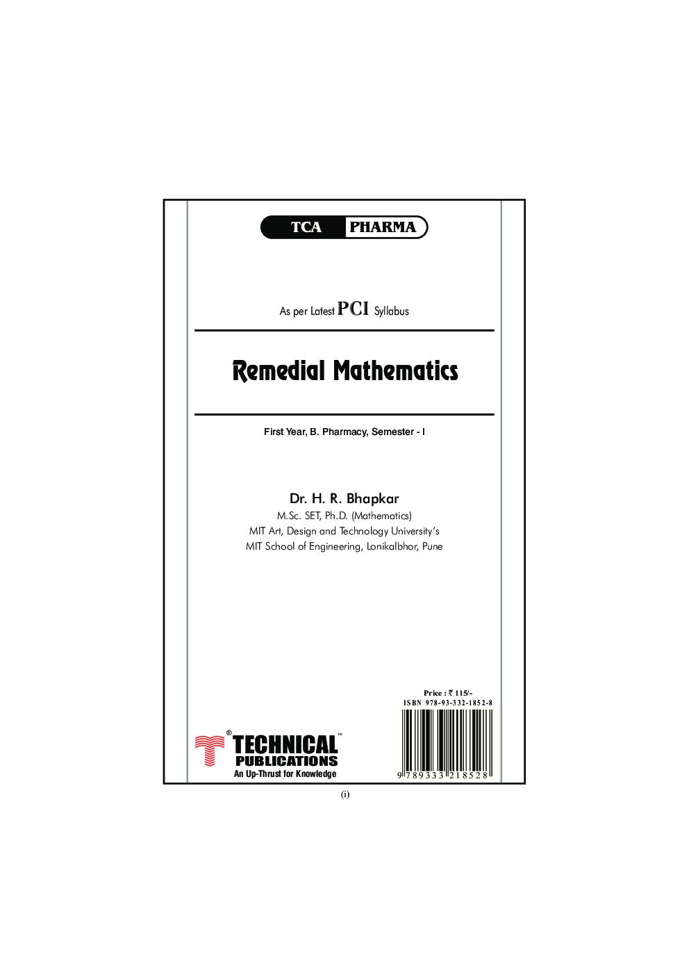 Remedial Mathematics - Page 2