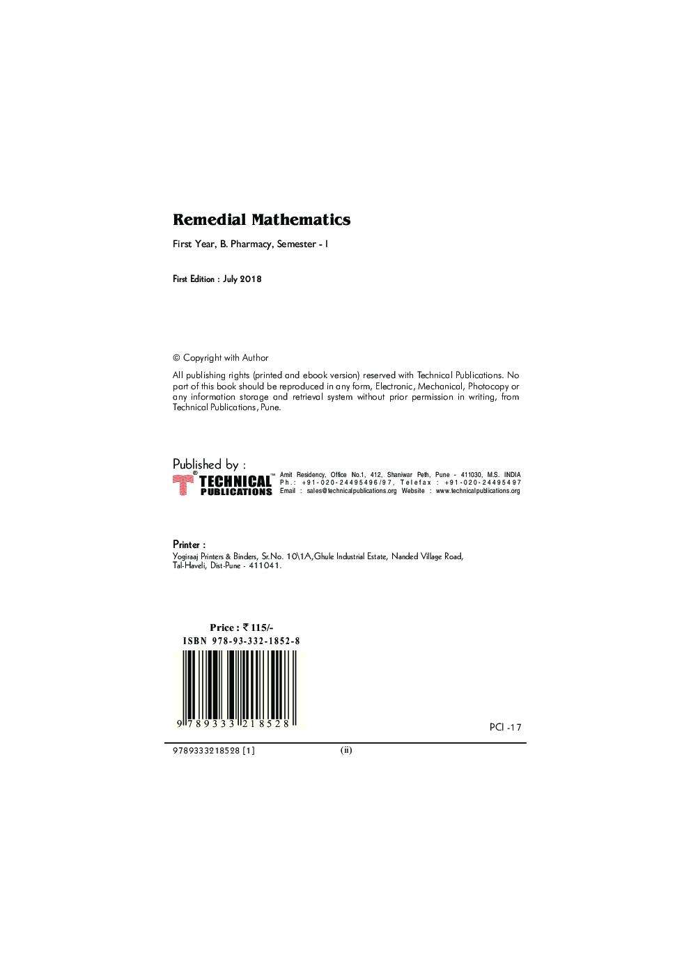 Remedial Mathematics - Page 3