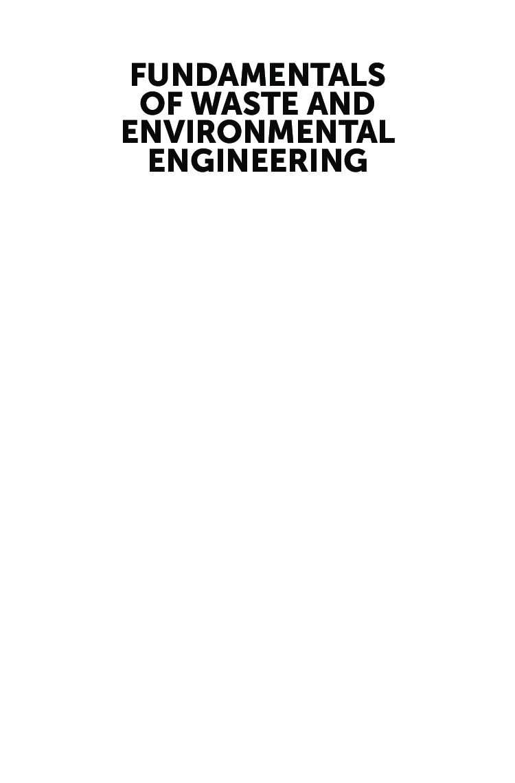 Fundamentals Of Waste And Environmental Engineering   - Page 2