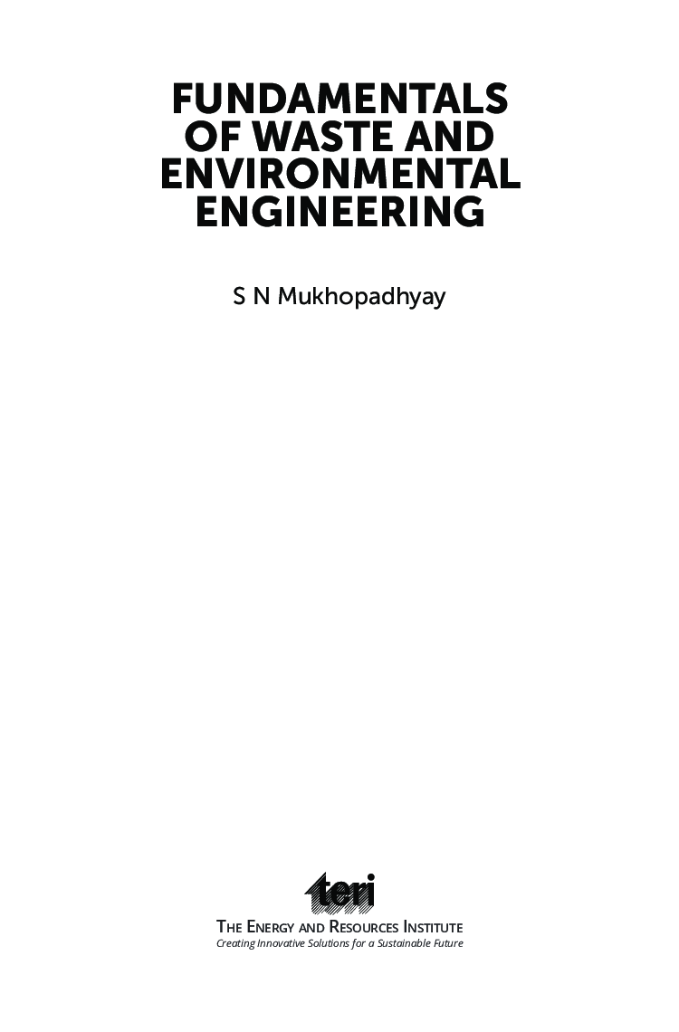 Fundamentals Of Waste And Environmental Engineering   - Page 4