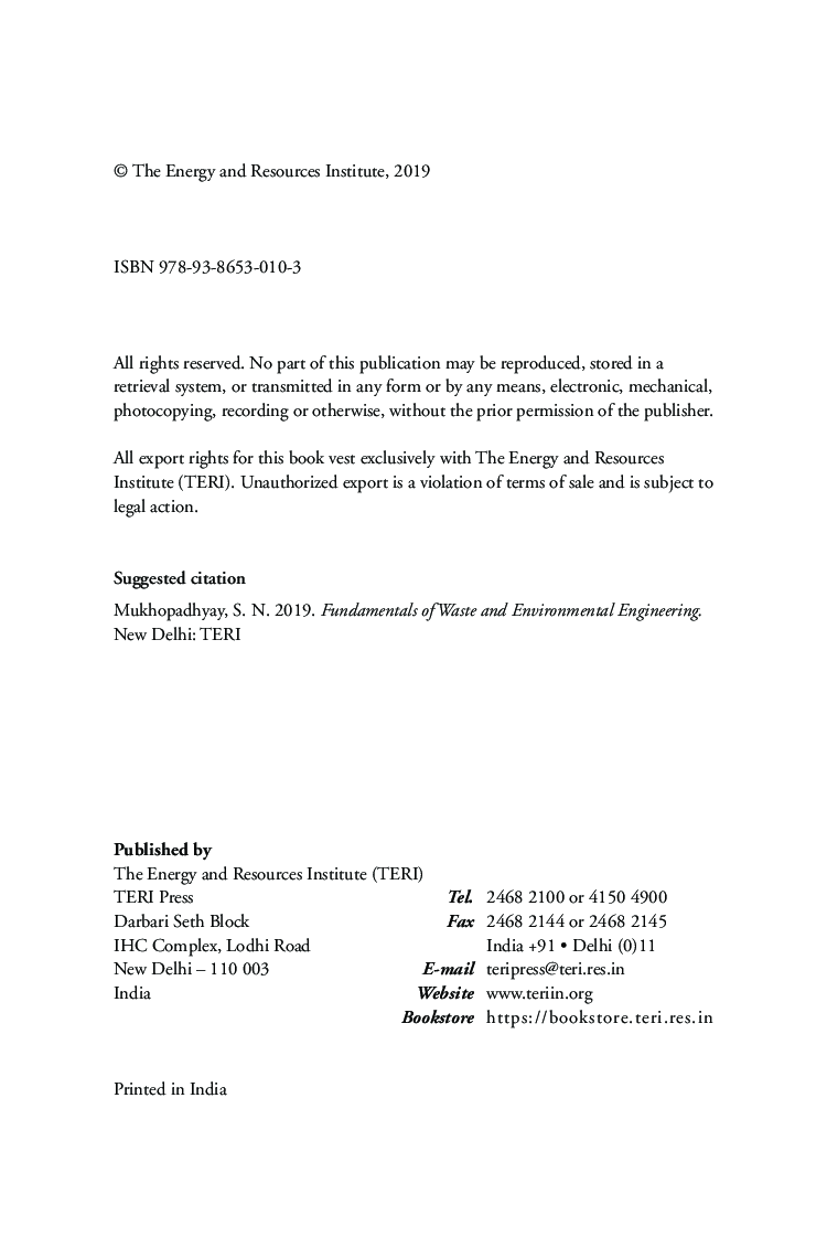 Fundamentals Of Waste And Environmental Engineering   - Page 5