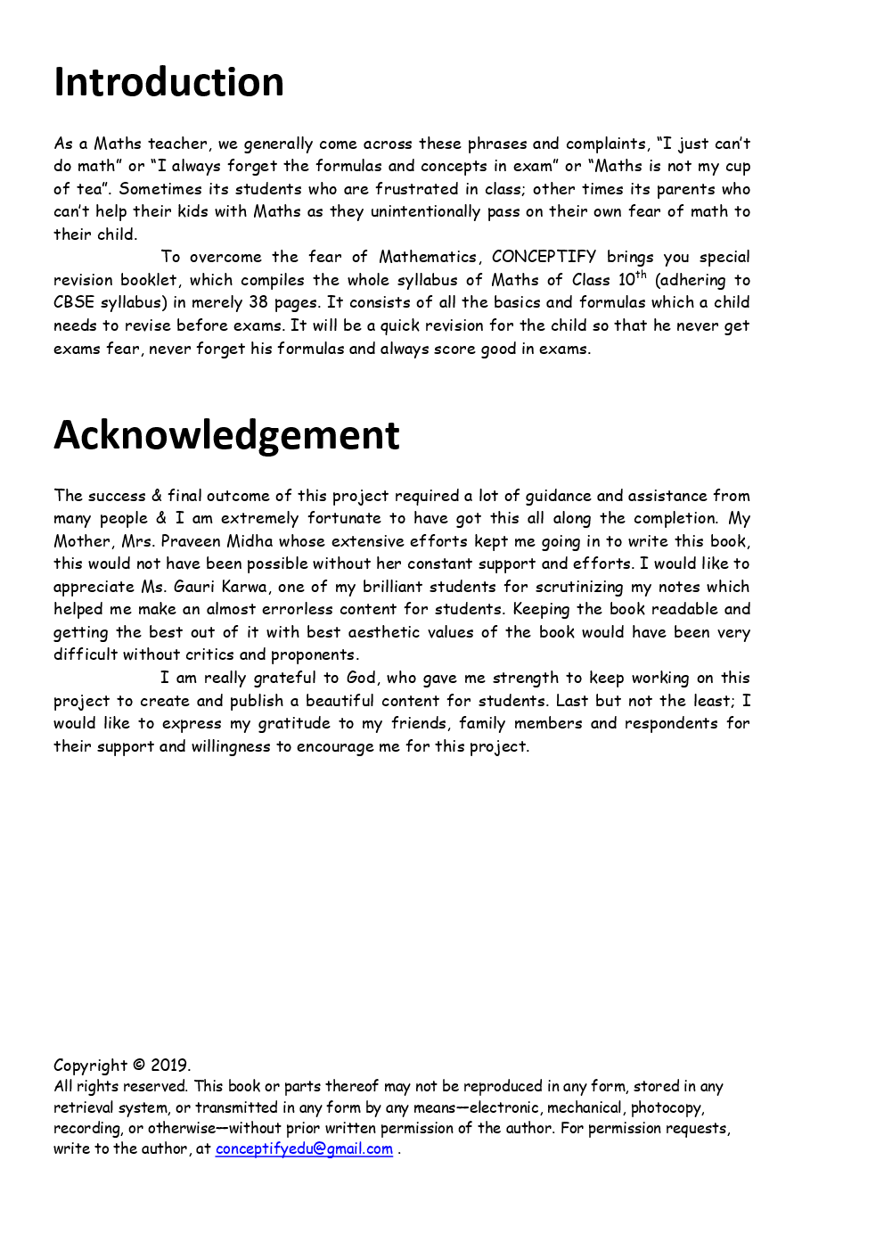 Conceptify's Brief Mathematics For Class - X - Page 2