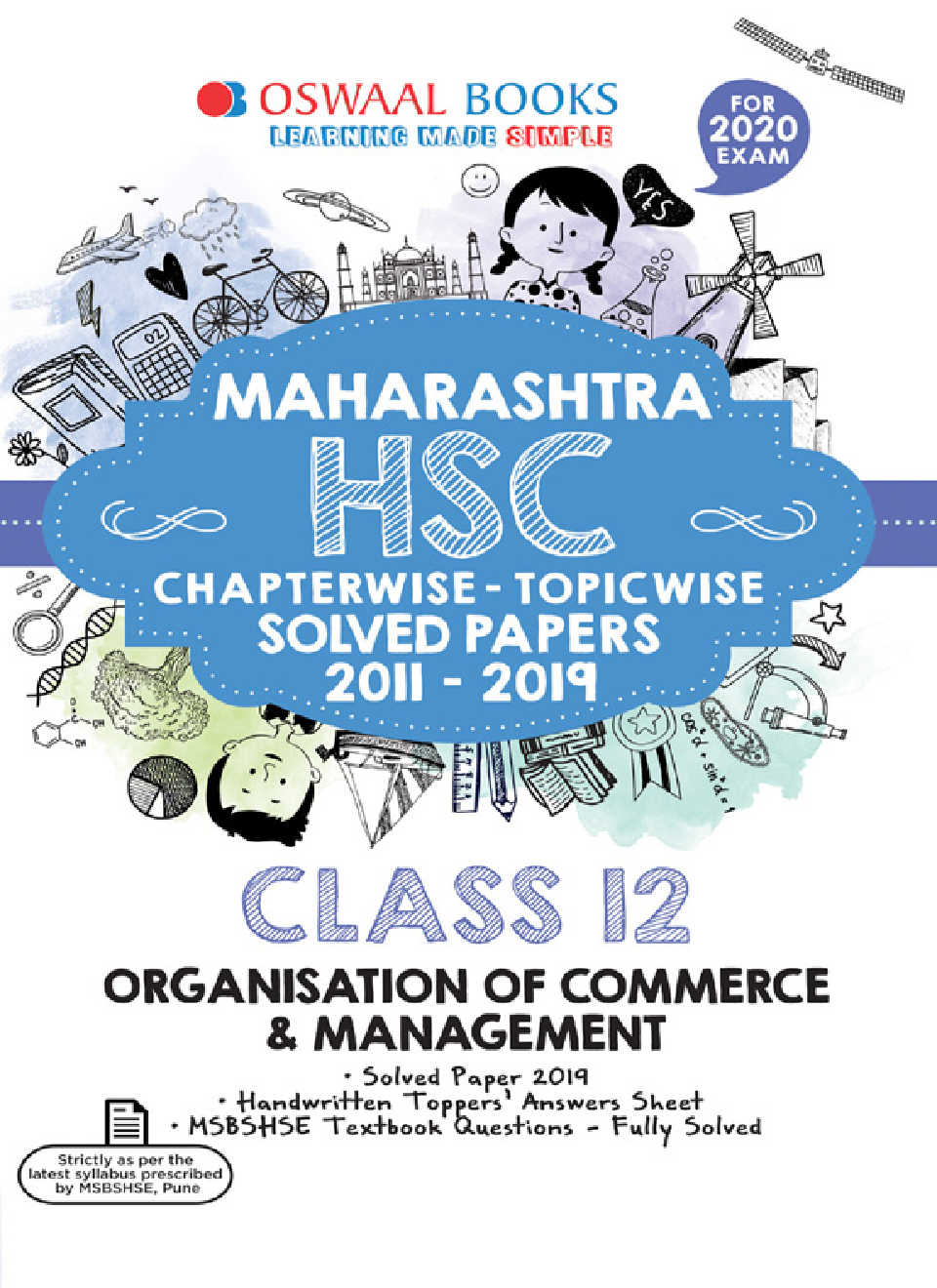 Oswaal Maharashtra HSC Chapterwise & Topicwise Solved Papers For Class - XII Organisation of Commerce & Management (For March 2020 Exam) - Page 1