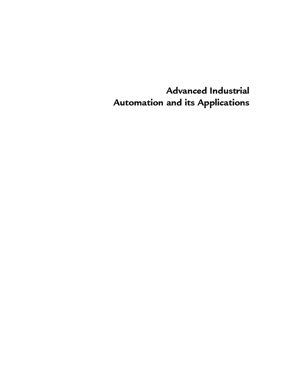 Advanced Industrial Automation And Its Applications - Page 3