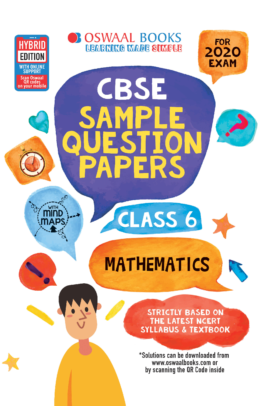 Oswaal CBSE Sample Question Papers For Class VI Mathematics (For March 2020 Exam) - Page 1