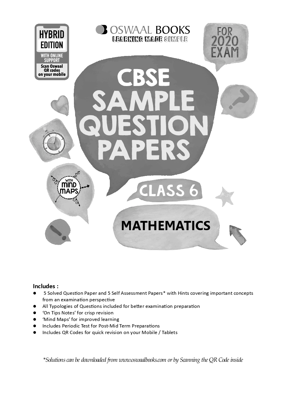 Oswaal CBSE Sample Question Papers For Class VI Mathematics (For March 2020 Exam) - Page 2