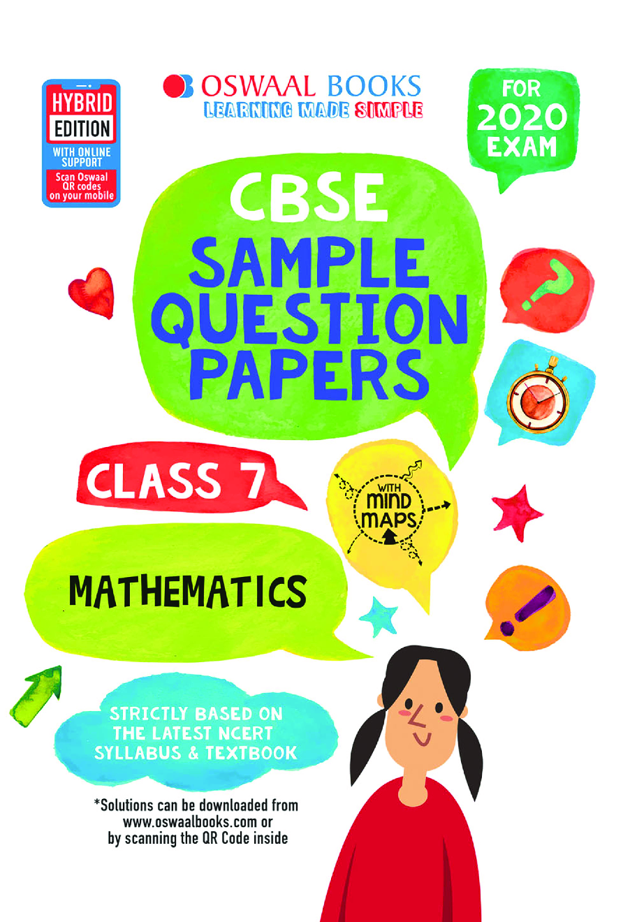 Oswaal CBSE Sample Question Papers For Class VII Mathematics (For March 2020 Exam) - Page 1