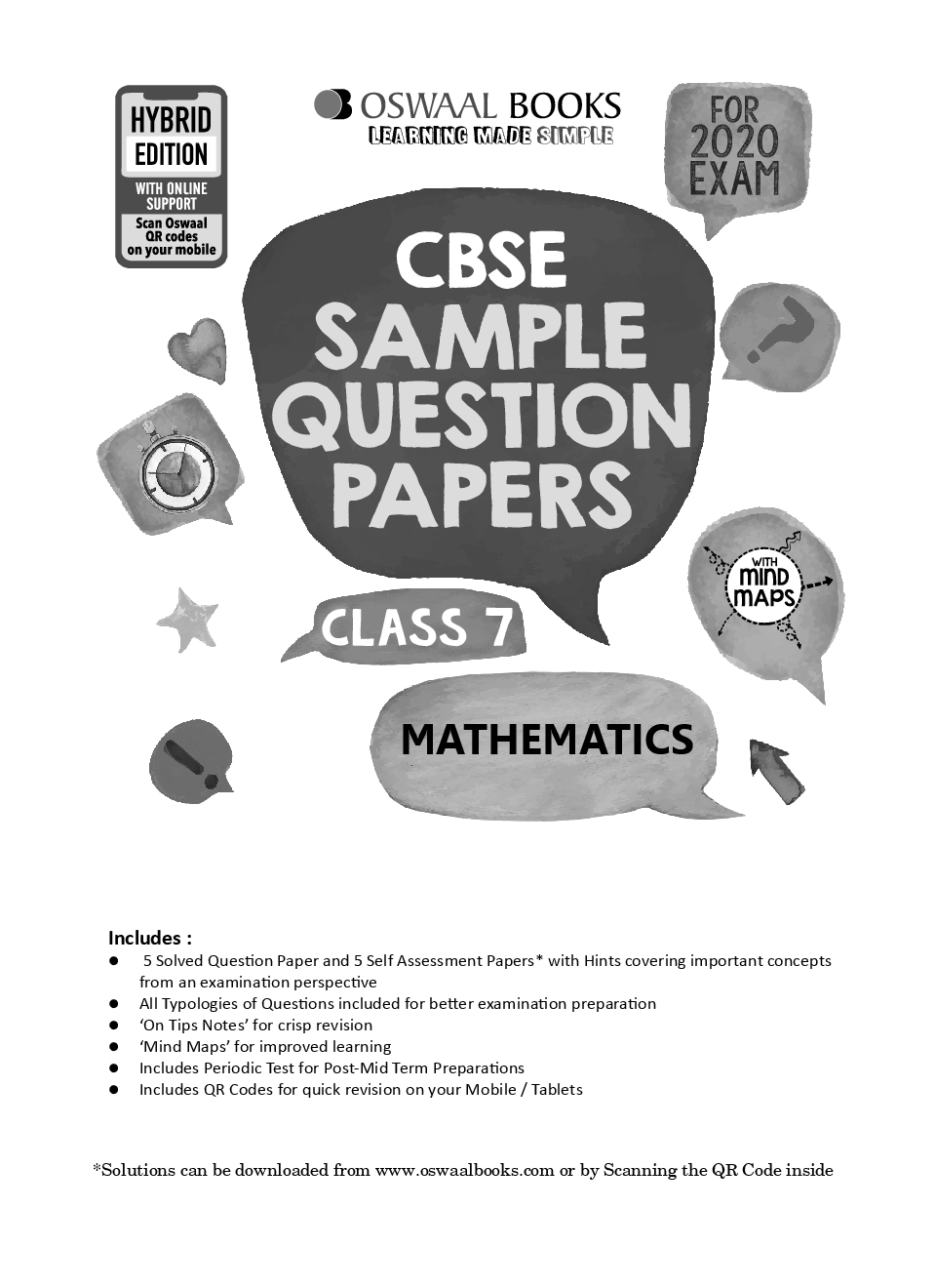Oswaal CBSE Sample Question Papers For Class VII Mathematics (For March 2020 Exam) - Page 2