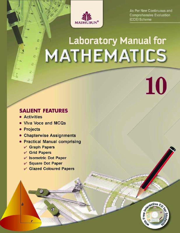 Laboratory Manual For Mathematics Class - X - Page 1