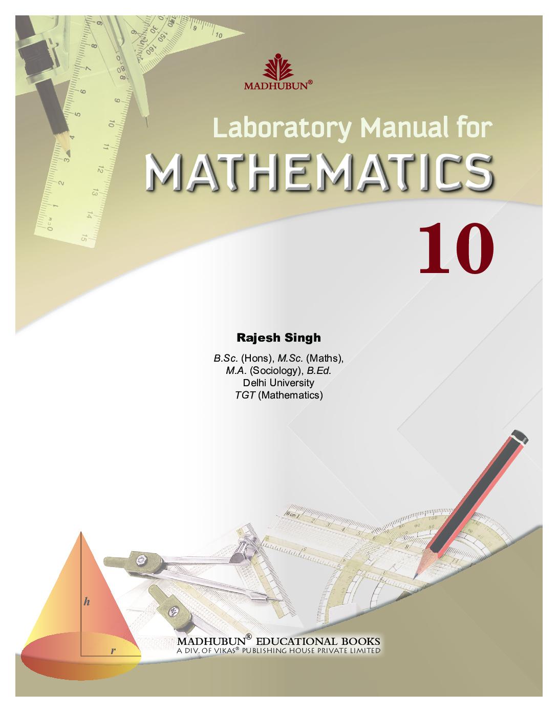 Laboratory Manual For Mathematics Class - X - Page 2