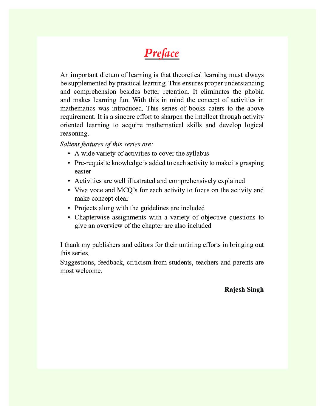 Laboratory Manual For Mathematics Class - X - Page 3