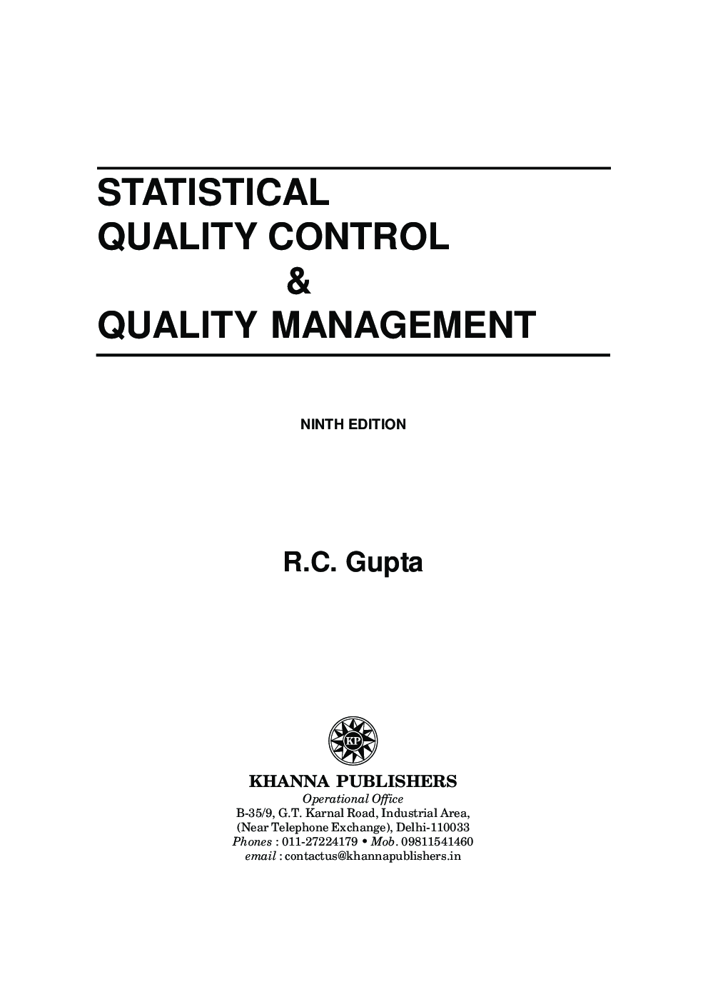 Dissertation statistical service quality management