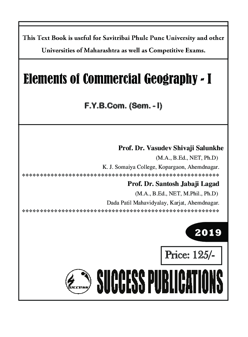 Elements Of Commercial Geography - I - Page 2