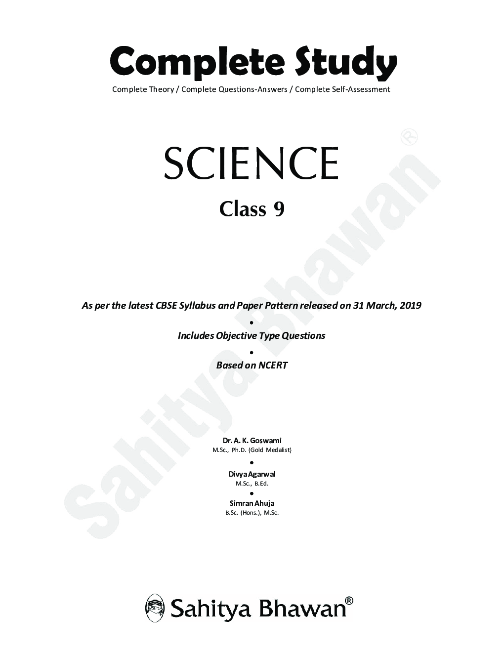 CBSE Complete Study Science For Class - IX - Page 3