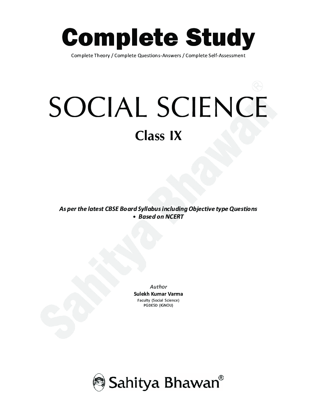 CBSE Complete Study Social Science For Class - IX - Page 2