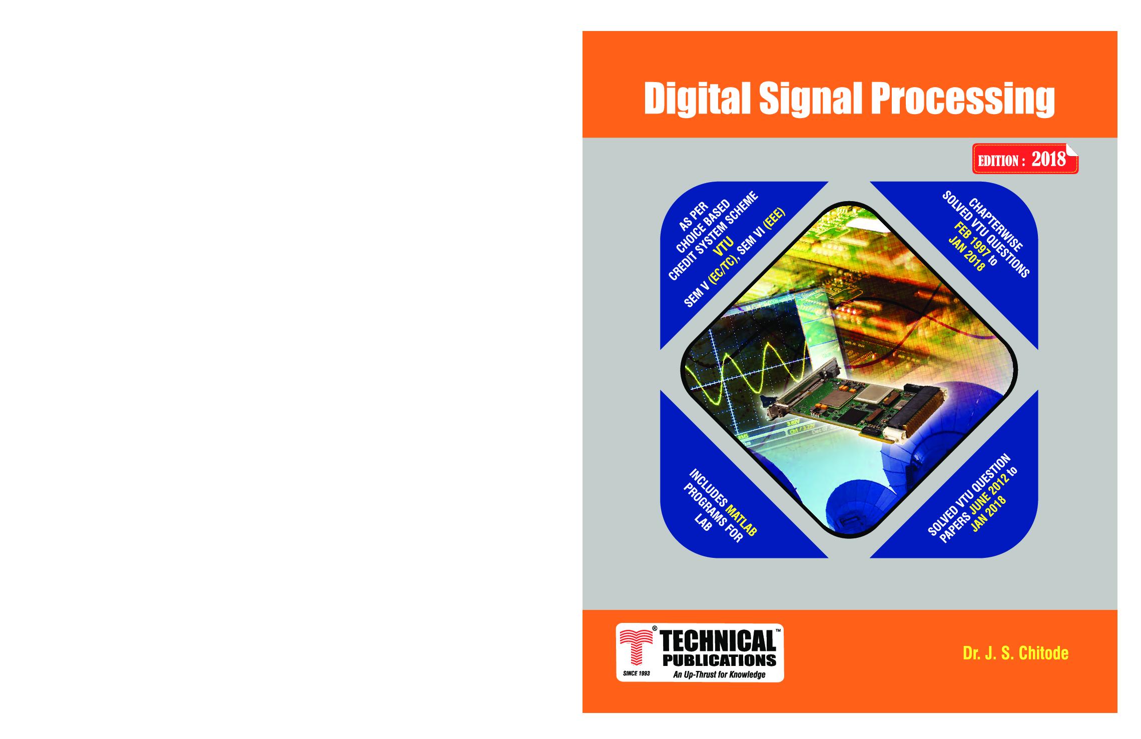 Digital Signal Processing For VTU - Page 1