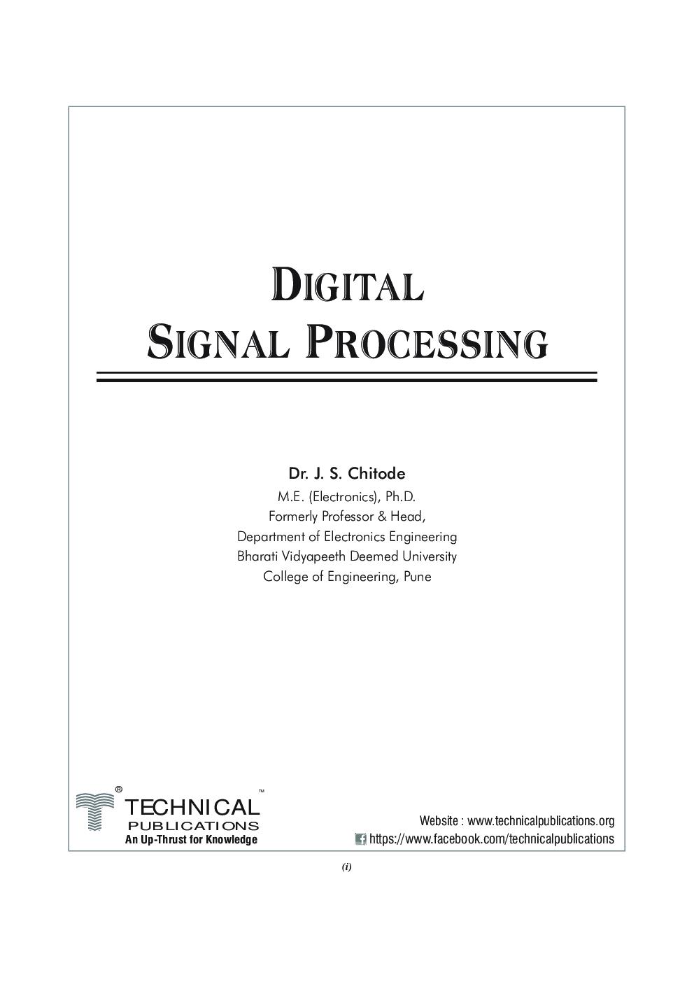 Digital Signal Processing For VTU - Page 2