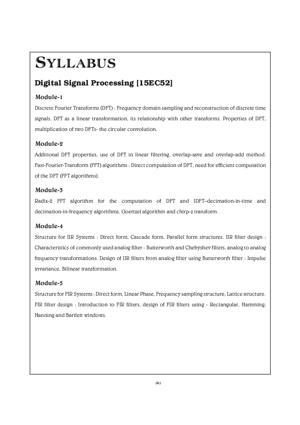 Digital Signal Processing For VTU - Page 5