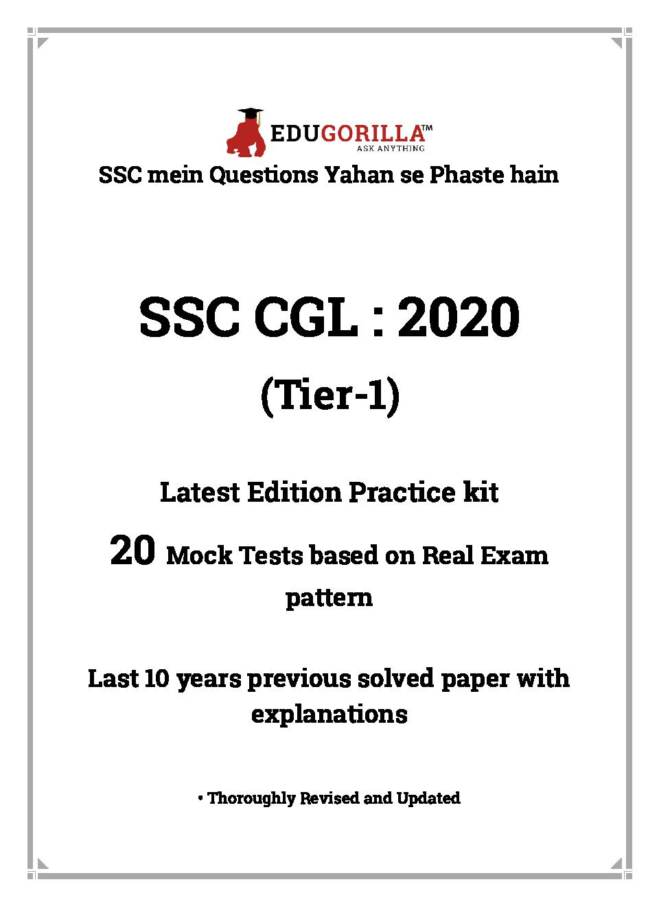 EduGorilla SSC CGL: 2020 Tier-I (Practice Kit) - Page 3