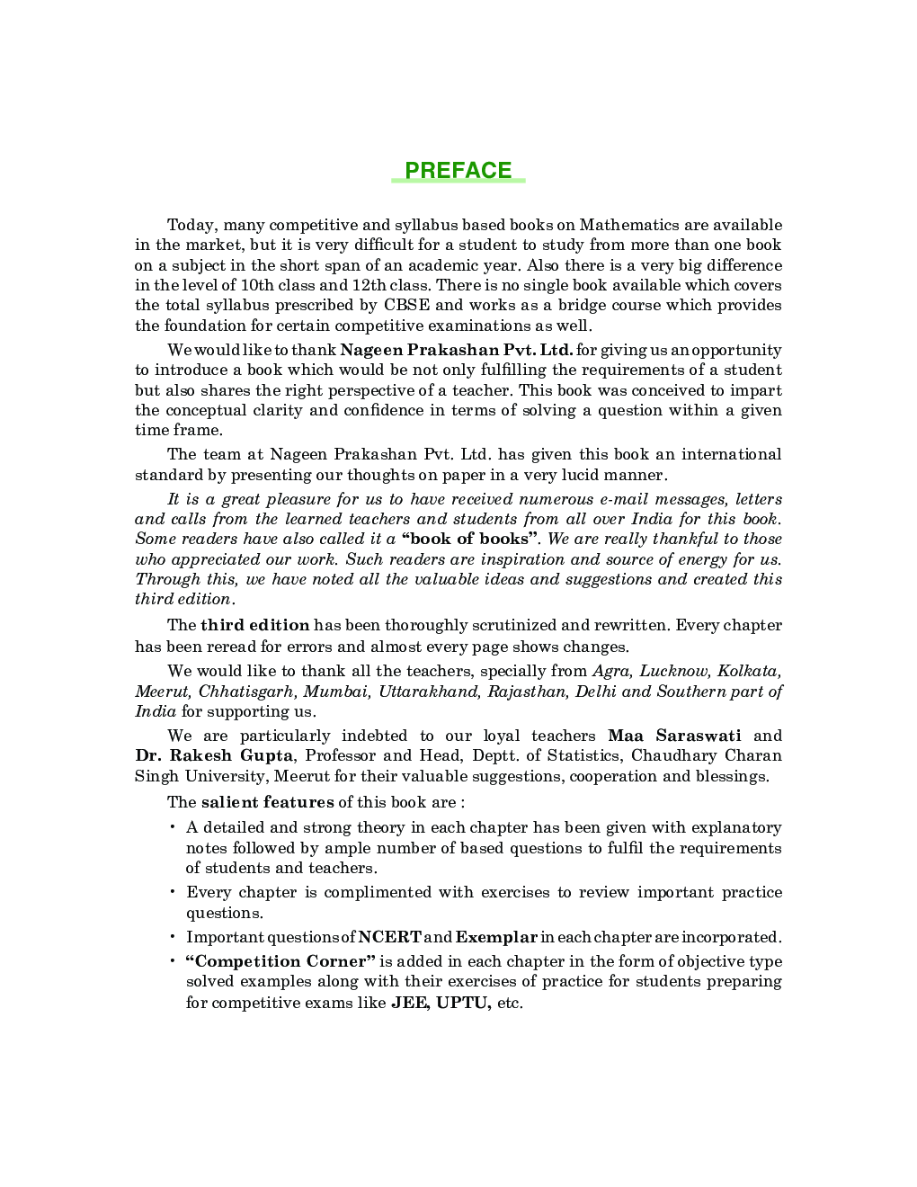 CBSE Mathematics Part-I For Class - XII - Page 4