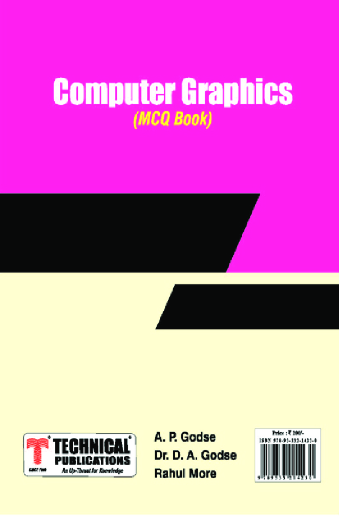 Computer Graphics (IT) MCQ BOOK - Page 1