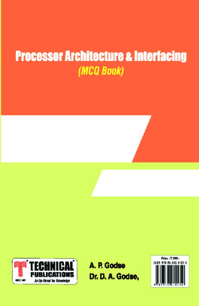 Processor Architecture & Interfacing MCQ BOOK - Page 1