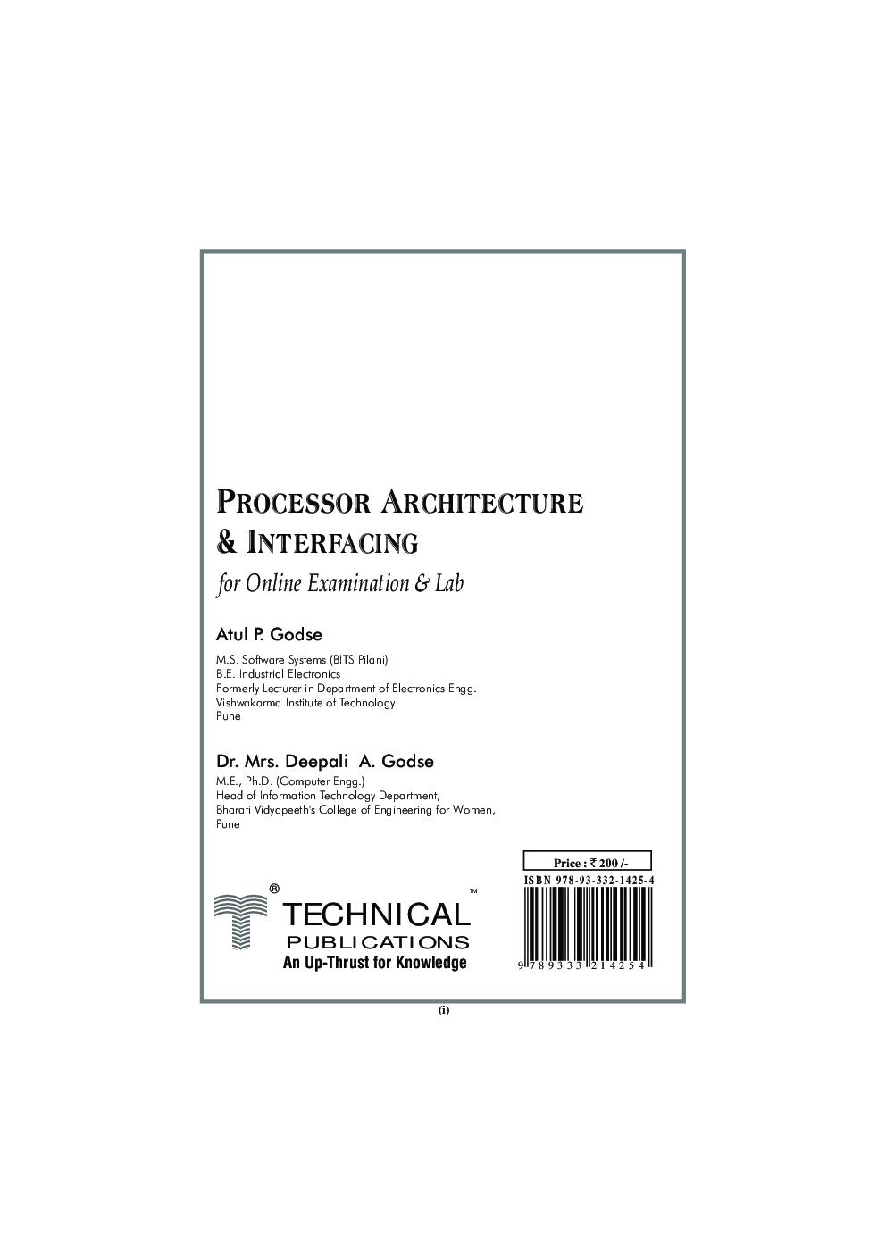 Processor Architecture & Interfacing MCQ BOOK - Page 2