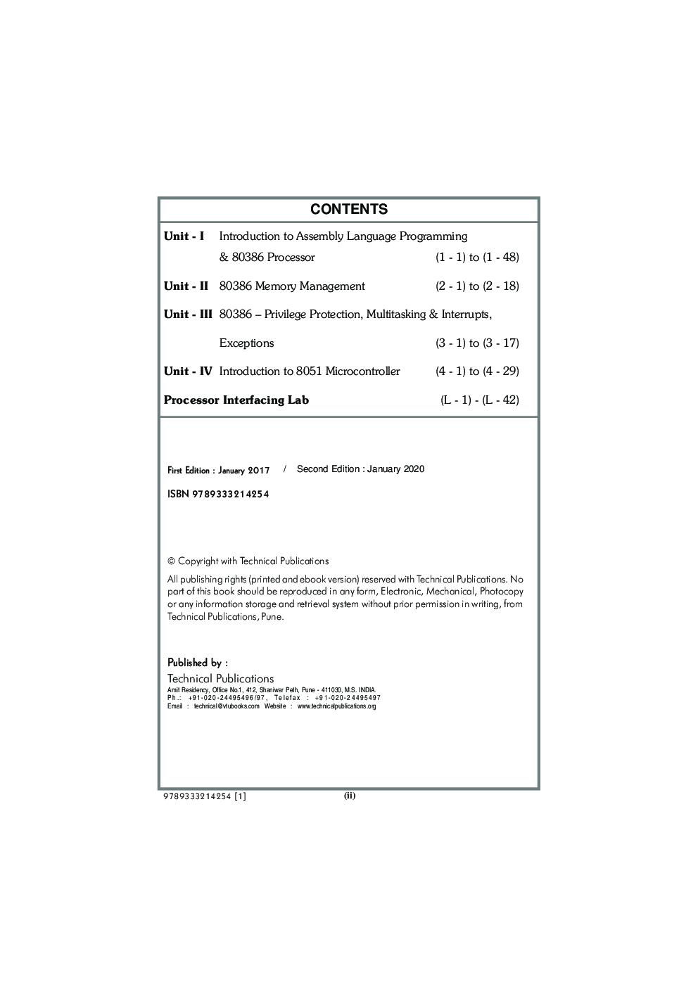 Processor Architecture & Interfacing MCQ BOOK - Page 3