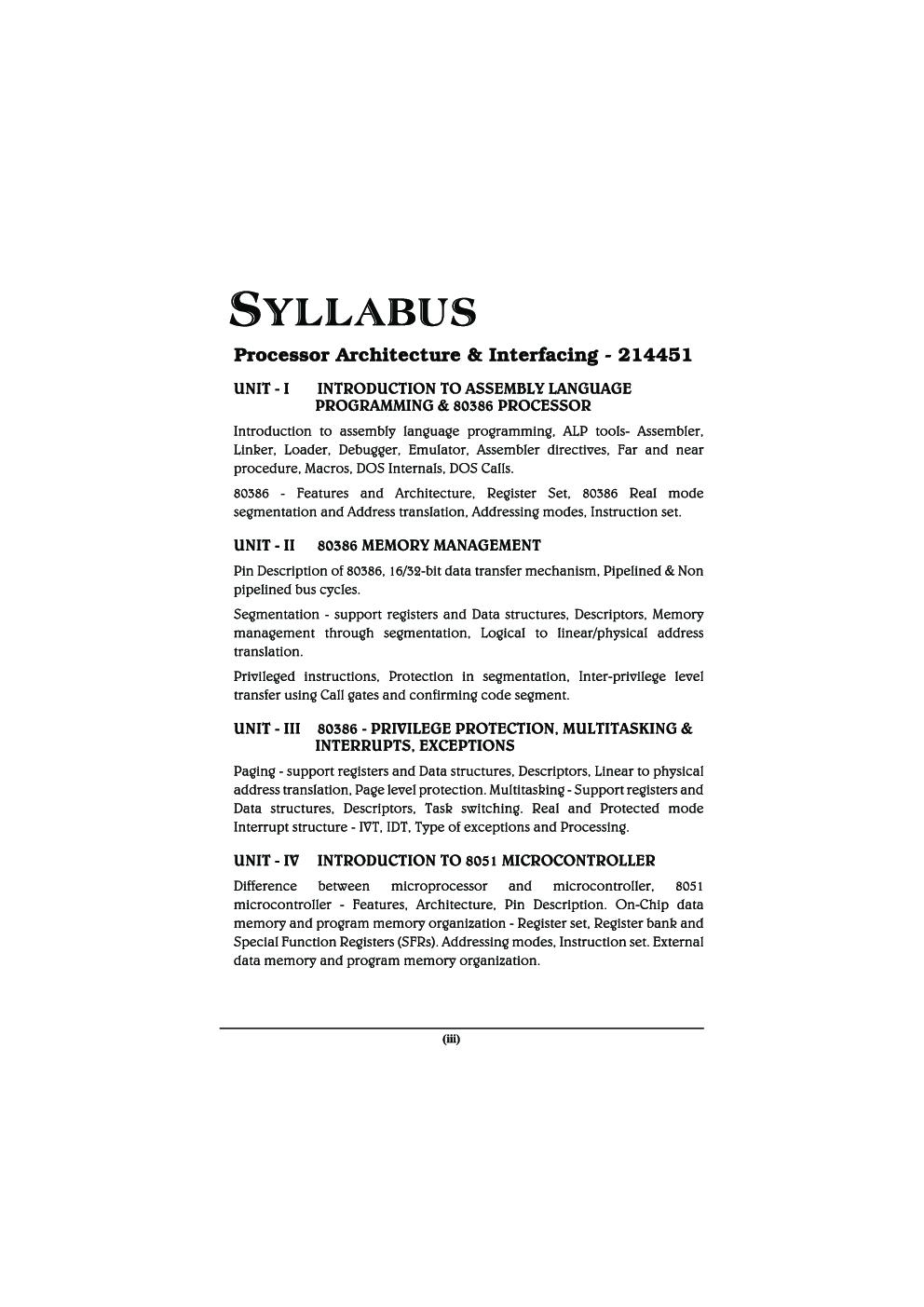 Processor Architecture & Interfacing MCQ BOOK - Page 4