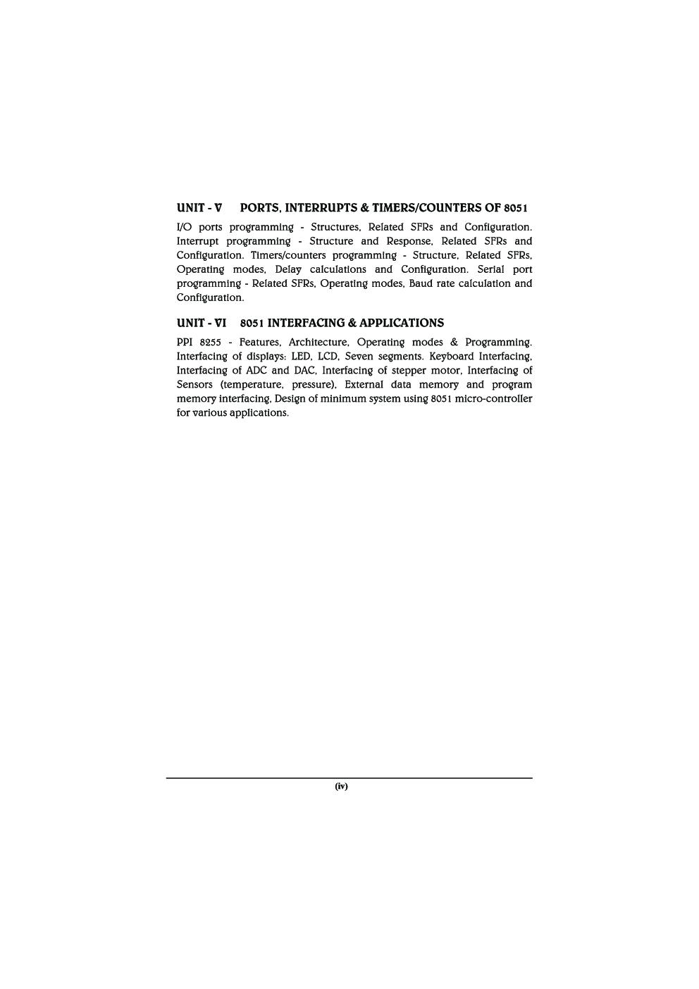 Processor Architecture & Interfacing MCQ BOOK - Page 5