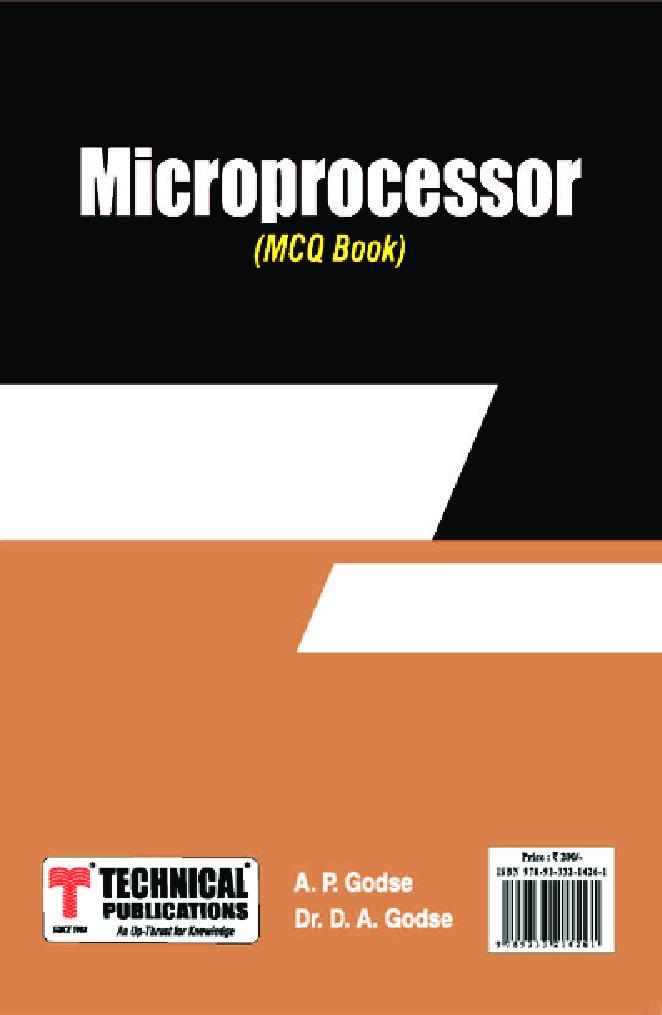 Microprocessor MCQ BOOK - Page 1