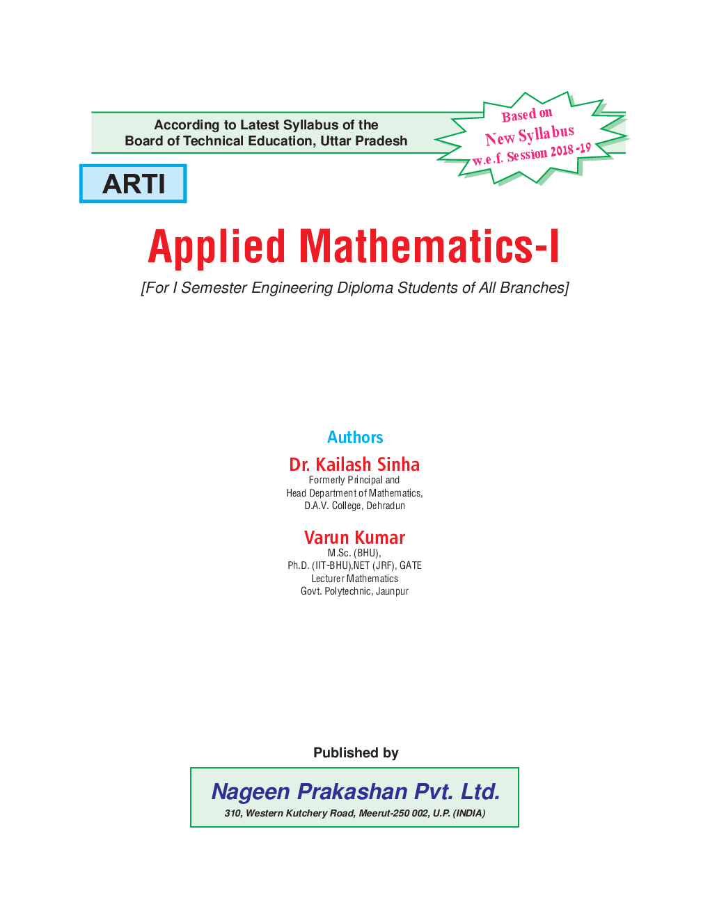 Applied Mathematics-I - Page 2