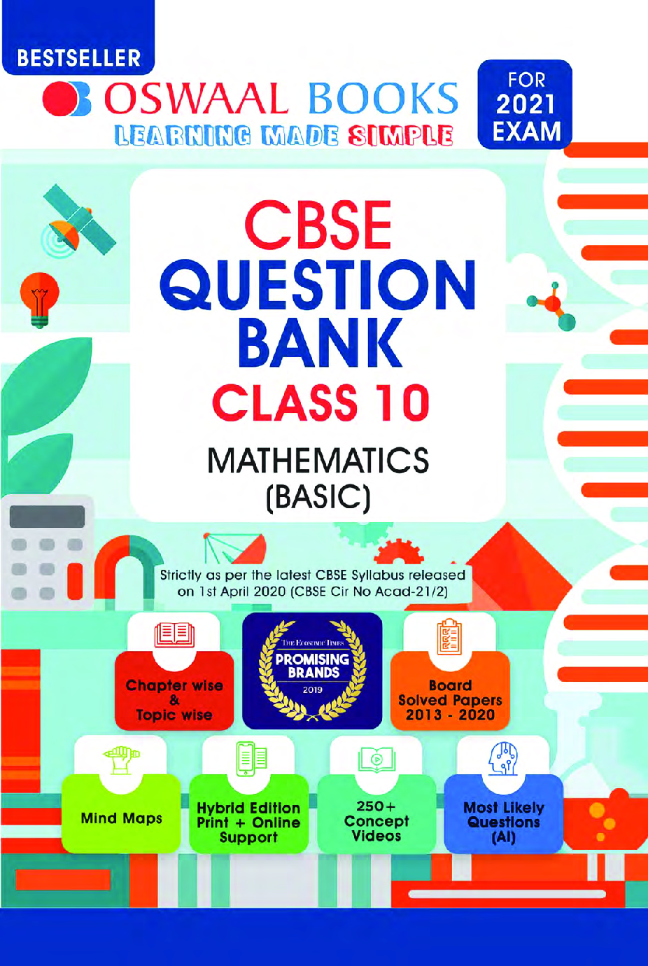 Oswaal CBSE Question Bank For Class - X Mathematics (Basic) (March 2021 Exam) - Page 1