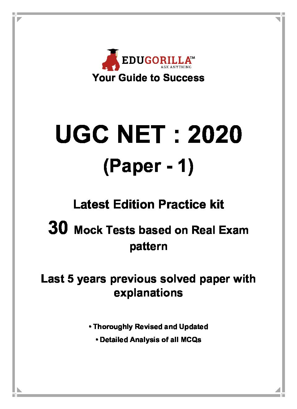 EduGorilla UGC NET : 2020 (Paper - 1) Latest Edition Practice Kit - Page 3