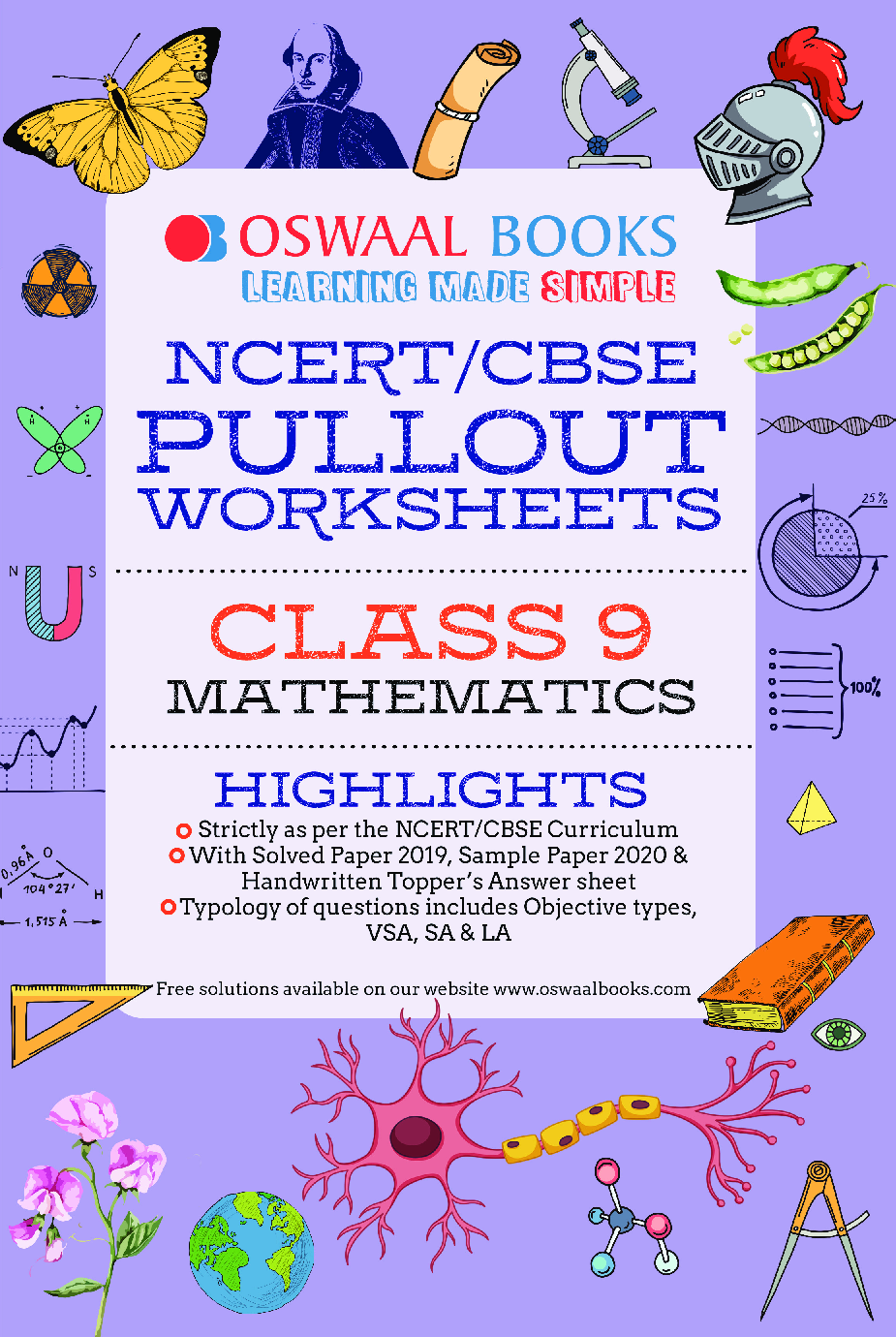 Oswaal NCERT & CBSE Pullout Worksheets For Class - IX Mathematics (March 2021 Exam) - Page 1