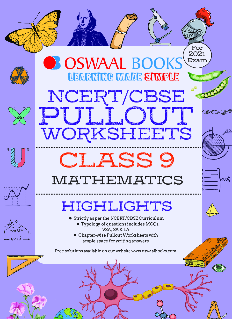 Oswaal NCERT & CBSE Pullout Worksheets For Class - IX Mathematics (March 2021 Exam) - Page 2
