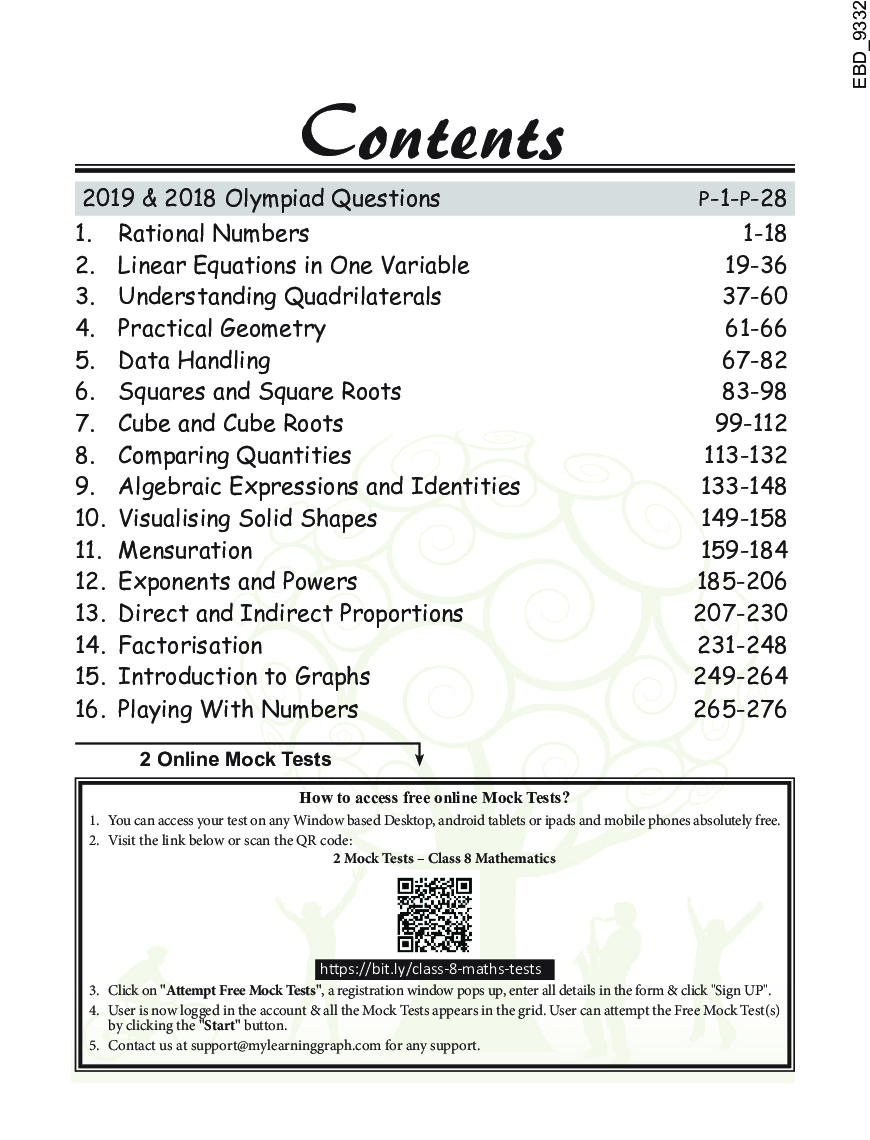 Olympiad Champs Mathematics Class 8 With Past Olympiad Questions 4th Edition - Page 5