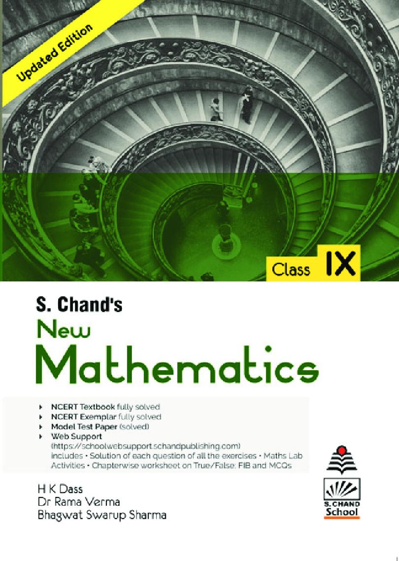 S. Chand\'s  New Mathematics Class IX - Page 1