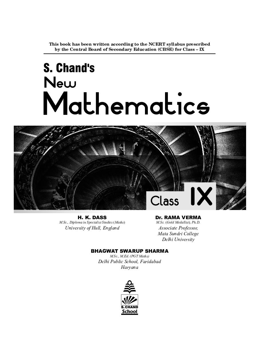 S. Chand\'s  New Mathematics Class IX - Page 2