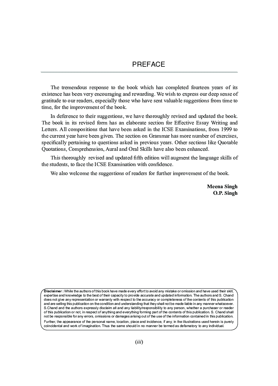 ICSE Art of Effective English Writing for Classes IX-X (2021 Edition) - Page 4